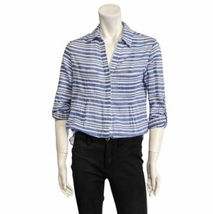 Lord & Taylor striped button down  blouse